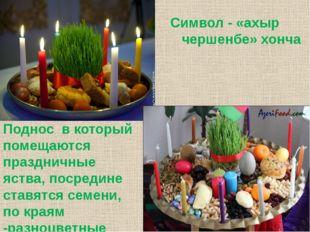 Символ - «ахыр чершенбе» хонча Поднос в который помещаются праздничные яства,