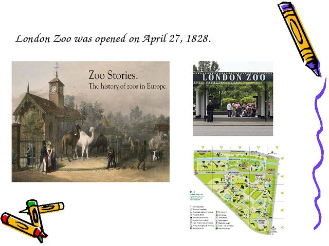 London Zoo was opened on April 27, 1828.