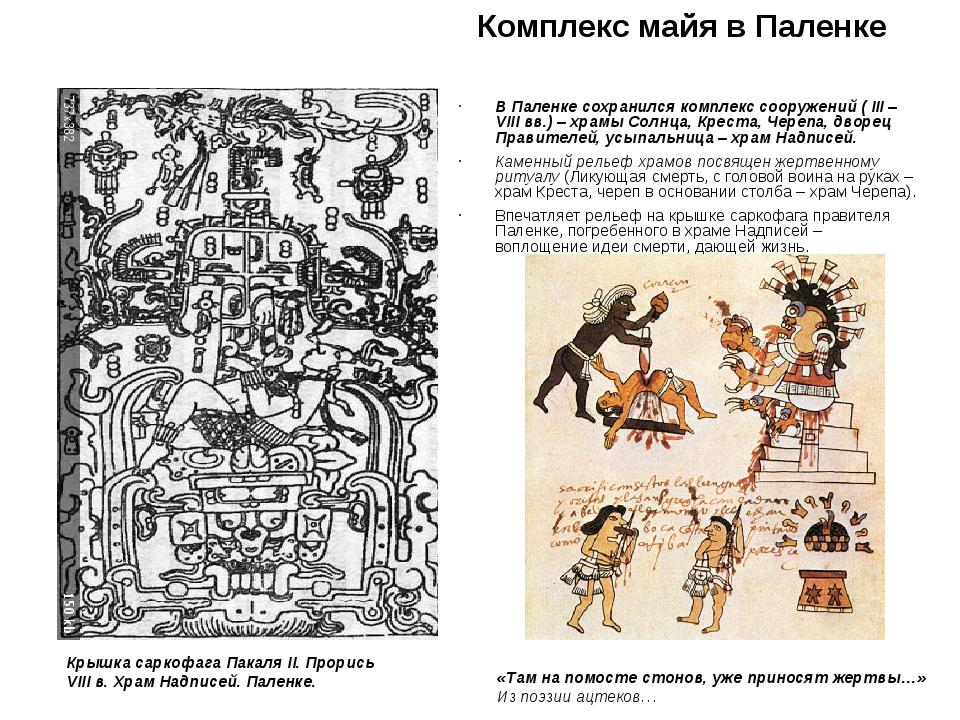 Комплекс майя в Паленке В Паленке сохранился комплекс сооружений ( III – VIII...