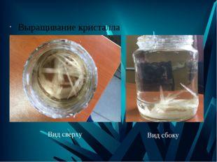 Выращивание кристалла Вид сверху Вид сбоку