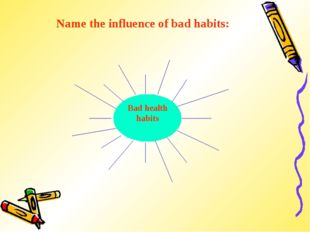 Name the influence of bad habits: