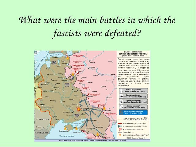 What were the main battles in which the fascists were defeated?