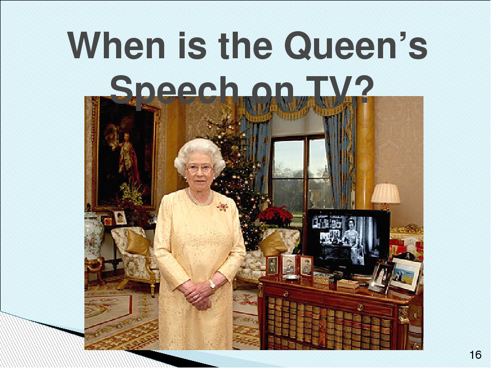 When is the Queen's Speech on TV?