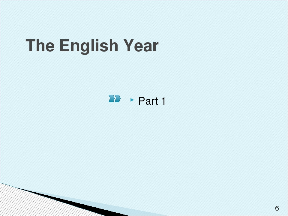 The English Year Part 1
