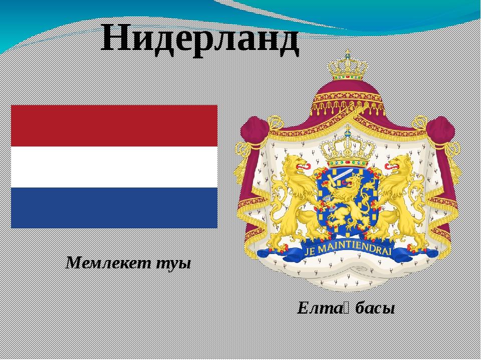 Нидерланд Мемлекет туы Елтаңбасы