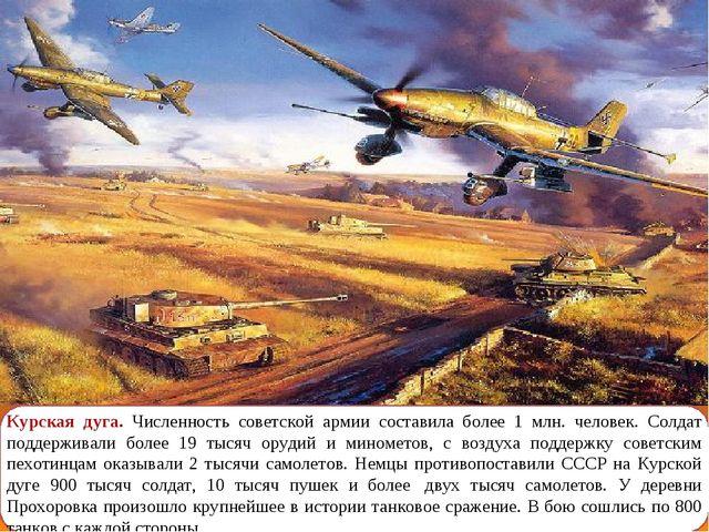 Курская дуга. Численность советской армии составила более 1 млн. человек. Сол...