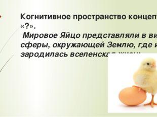 Когнитивное пространство концепта «?». Мировое Яйцо представляли в виде сферы