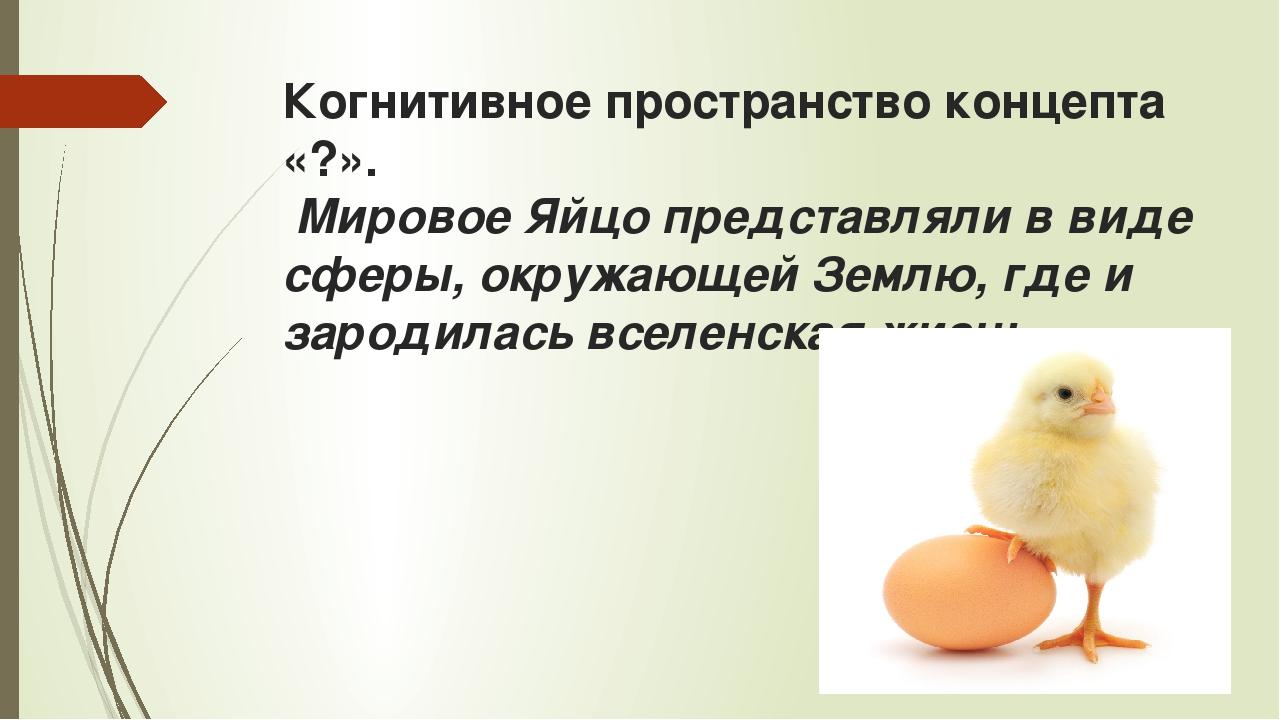 Когнитивное пространство концепта «?». Мировое Яйцо представляли в виде сферы...