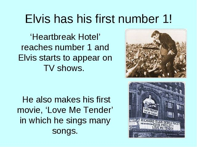 Elvis has his first number 1! 'Heartbreak Hotel' reaches number 1 and Elvis s...