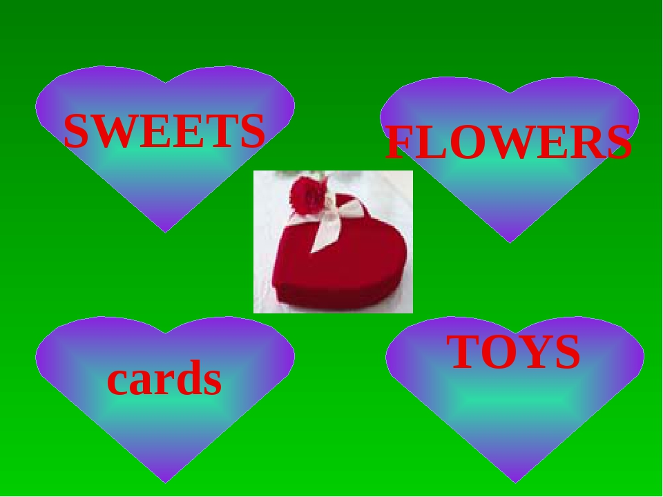 cards SWEETS FLOWERS TOYS