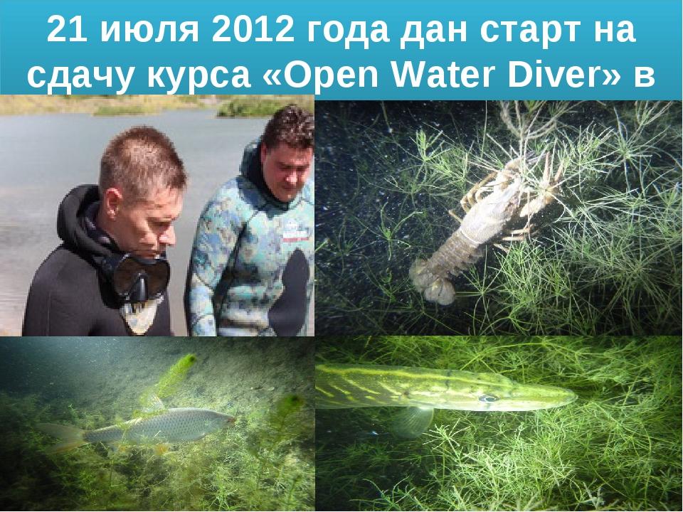21 июля 2012 года дан старт на сдачу курса «Open Water Diver» в Грицово