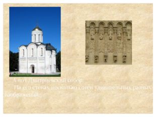 А вот Дмитриевский собор. На его стенах несколько сотен удивительных разных