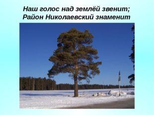 Наш голос над землёй звенит; Район Николаевский знаменит