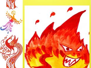 Грозный Огонь разозлился тогда, Огнетушитель врагом его стал навсегда. Как