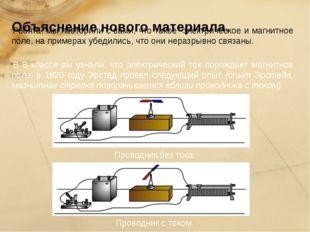 Объяснение нового материала. Ребята, мы повторили с вами, что такое электрич