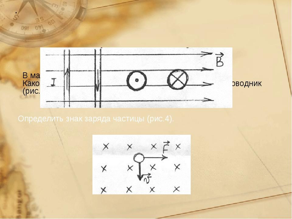 В магнитное поле внесены 4 проводника с током. Каково направление силы, дейс...