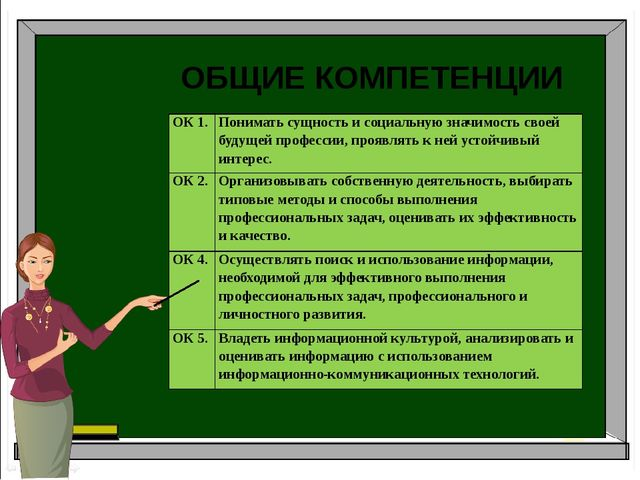 Аудит Бухгалтерский учет Налоги и налогоболжение ОБЩИЕ КОМПЕТЕНЦИИ ОК1. Пони...