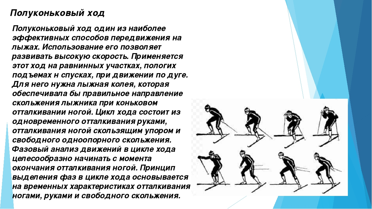 Полуконьковый ход Полуконьковый ход один из наиболее эффективных способов пер...