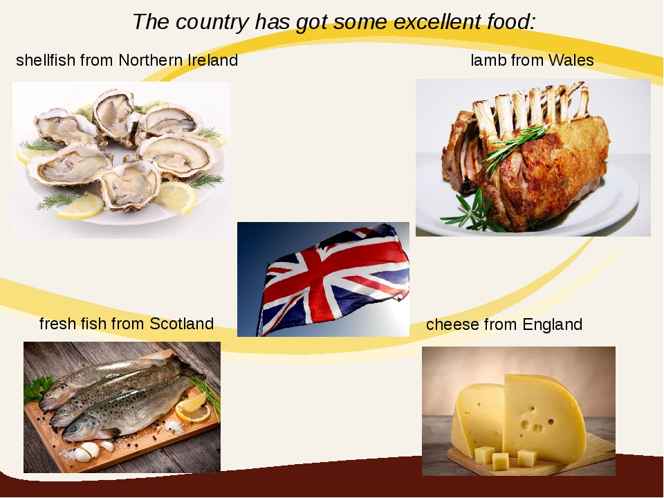 lamb from Wales shellfish from Northern Ireland fresh fish from Scotland chee...