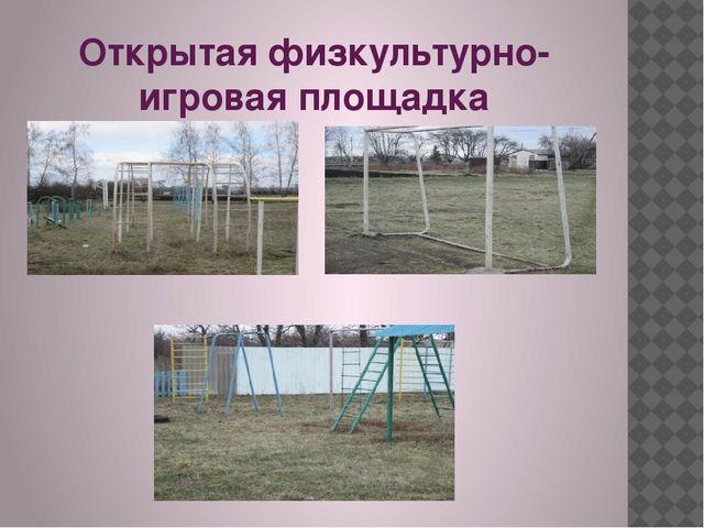 Открытая физкультурно- игровая площадка