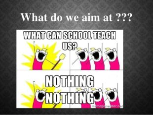 What do we aim at ???