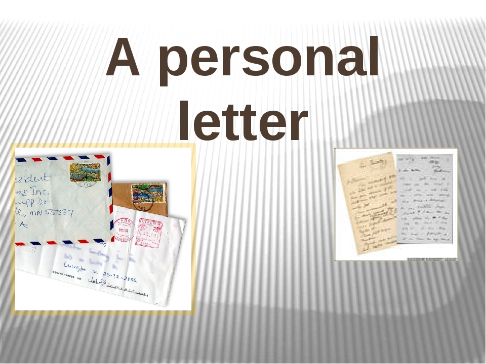 A personal letter