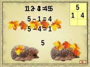 1 2 3 4 5 6 6 1 5 1 + 5 = 6 6 – 1 = 5 6 – 5 = 1 6