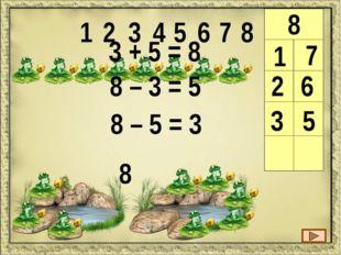 9 1 8 1 2 3 4 5 6 7 8 9 9 1 + 8 = 9 9 – 1 = 8 9 – 8 = 1