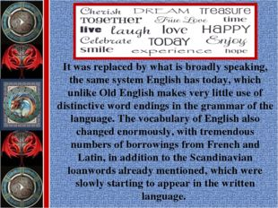 It was replaced by what is broadly speaking, the same system English has toda