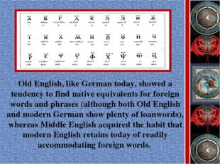 Old English, like German today, showed a tendency to find native equivalents
