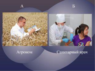 А Б Санитарный врач Агроном