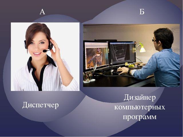 А Б Диспетчер Дизайнер компьютерных программ