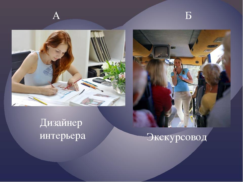 А Б Дизайнер интерьера Экскурсовод