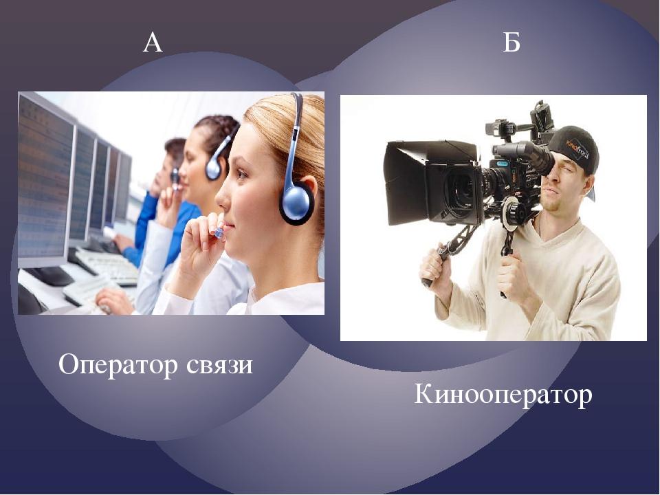 А Б Оператор связи Кинооператор