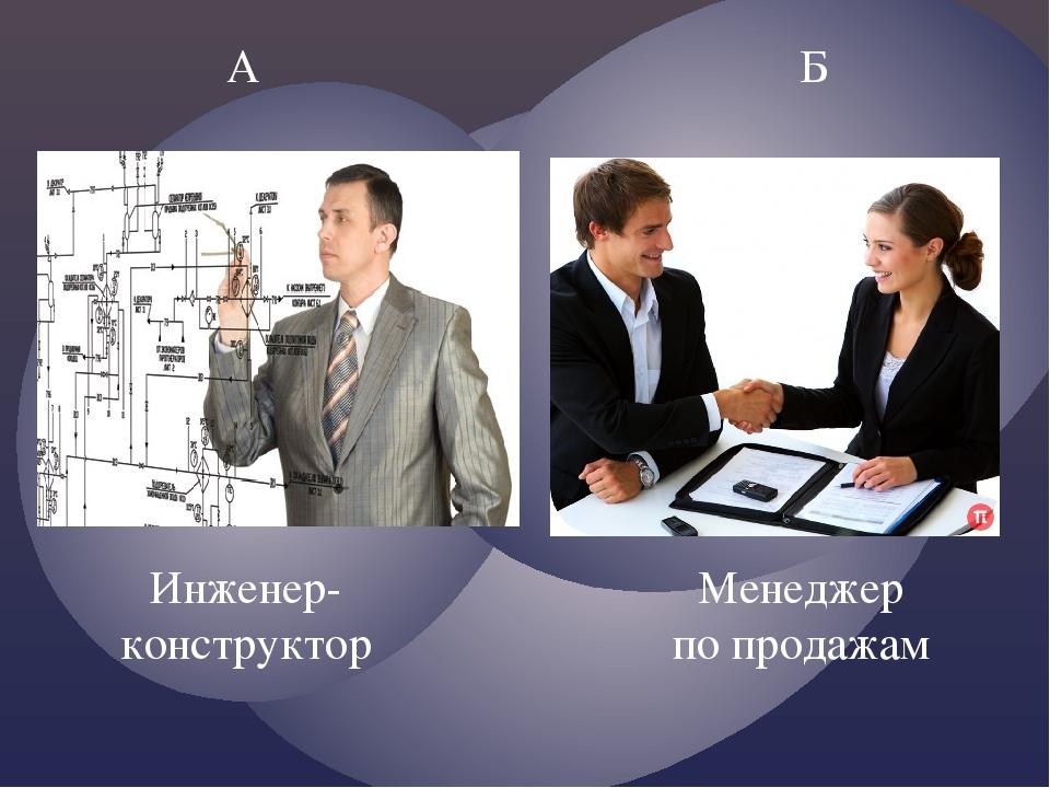 А Б Инженер-конструктор Менеджер по продажам