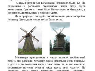 Проблема Символом герба посёлка городского типа Камские Поляны стала ветряная
