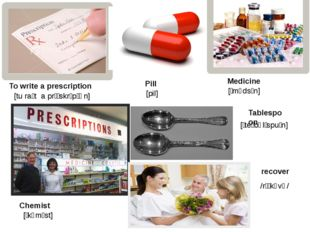 To write a prescription Pill Medicine Chemist Tablespoon recover [tu raɪt a p