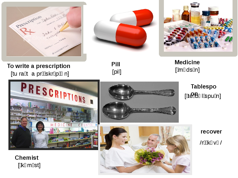 To write a prescription Pill Medicine Chemist Tablespoon recover [tu raɪt a p...