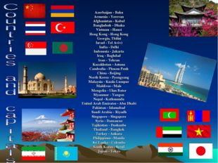 Azerbaijan - Baku Armenia - Yerevan Afghanistan - Kabul Bangladesh - Dhaka Vi