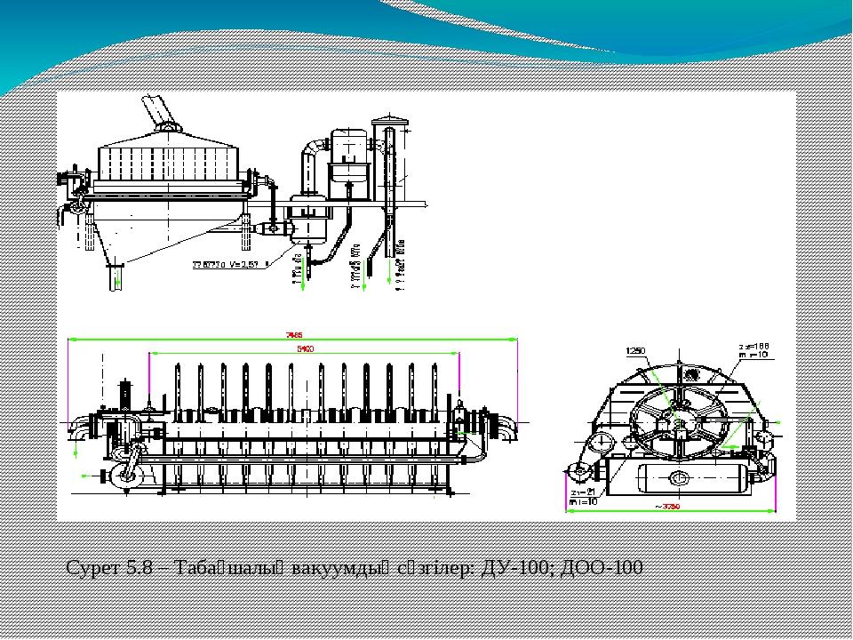 Сурет 5.8 – Табақшалық вакуумдық сүзгілер: ДУ-100; ДОО-100