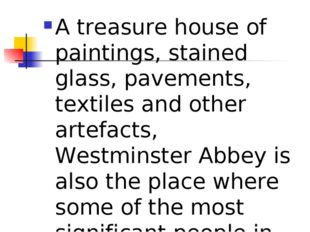 A treasure house of paintings, stained glass, pavements, textiles and other a