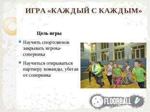 ИГРА «КАЖДЫЙ С КАЖДЫМ» Цель игры Научить спортсменов закрывать игрока-соперни