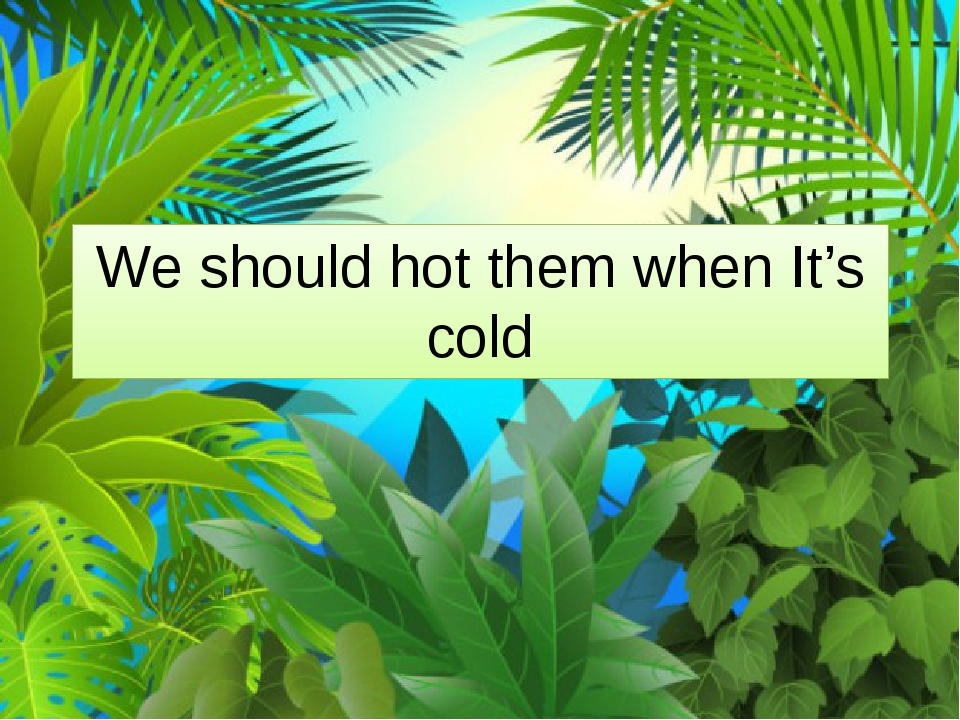We should hot them when It's cold