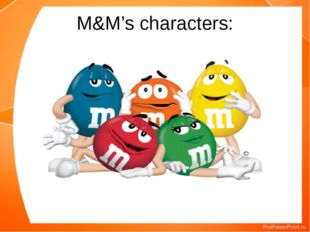 M&M's characters: