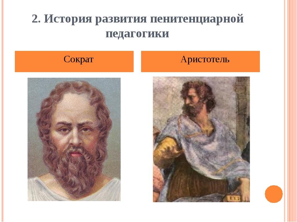 2. История развития пенитенциарной педагогики Сократ Аристотель