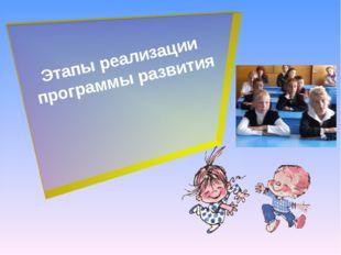 Этапы реализации программы развития