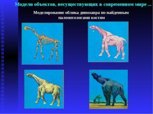 Моделирование облика динозавра по найденным палеонтологами костям Модели объе
