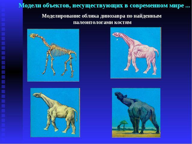 Моделирование облика динозавра по найденным палеонтологами костям Модели объе...