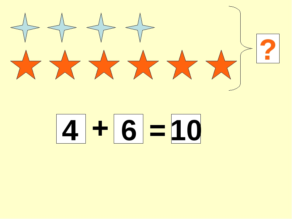 ? 4 + 6 = 10