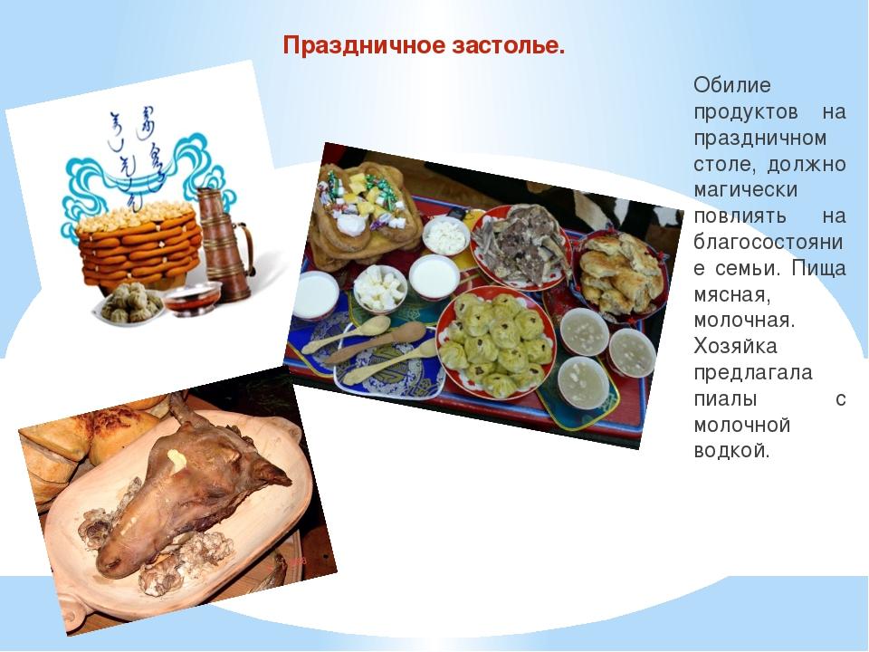 Праздничное застолье. Обилие продуктов на праздничном столе, должно магически...